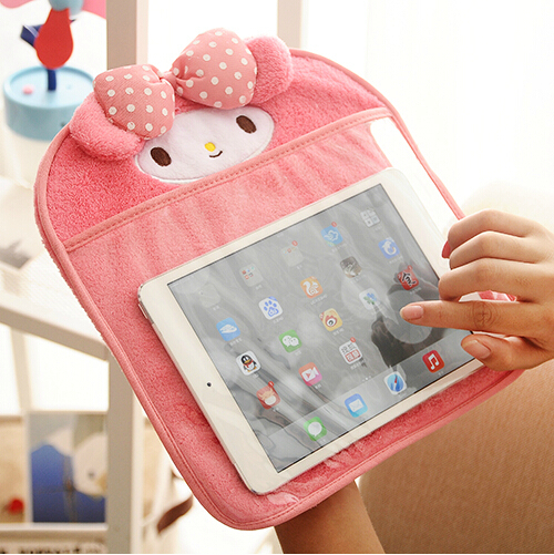 Kawaii Melody Animals Cartoon Laptop Tablet Case Cover Plush Bag for Ipad 2/3/4/5 TRD(China (Mainland))