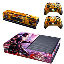 Gears of war Vinyl Skin Sticker Protector for Microsoft Xbox One and 2 controller skins Stickers for XBOXONE GSTM0122