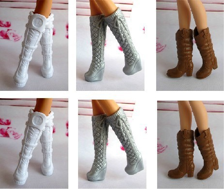 Free shipping Mix Style Mix Color Beautiful boots shoes For Barbie Doll hot hot