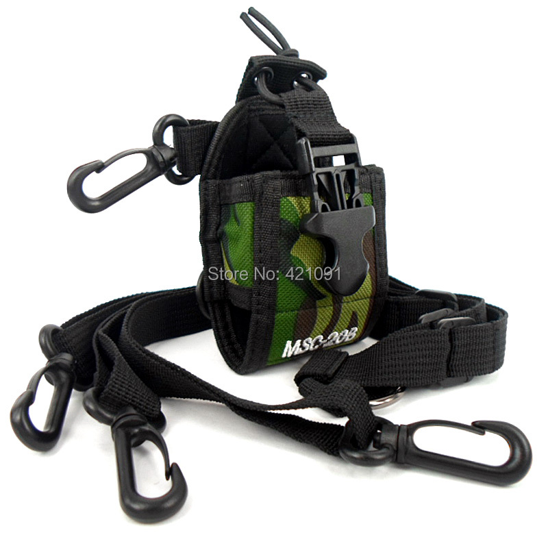 Walkie Talkie Portable Protection Bag Universal Multifunction Wear Interphone Sheath for Baofeng Kenwood Yaesu Radio Case Holder(China (Mainland))