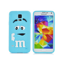 Fragrance Soft silicone cute M&M Chocolate colorful Rainbow Beans phone case cartoon cover For Samsung galaxy S5 i9600(China (Mainland))