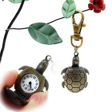 Envío gratis, antigüedad de la aleación de la tortuga movimiento de cuarzo venta al por mayor reloj, por mayor reloj llavero