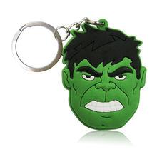 1 pcs Figura Dos Desenhos Animados da Marvel Avenger Anime Hulk Batman Chave Anel Chave Da Cadeia de PVC Kid Toy Pingente Super Herói Chaveiro titular Presente de Natal(China)