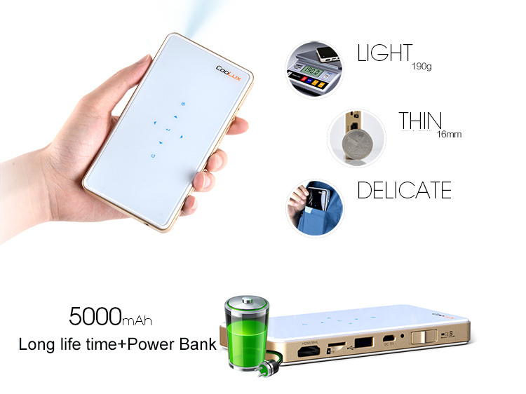 Coolux Q6 DLP mini wifi projector with Miracast and DLNA, perfect game projector for sale(China (Mainland))