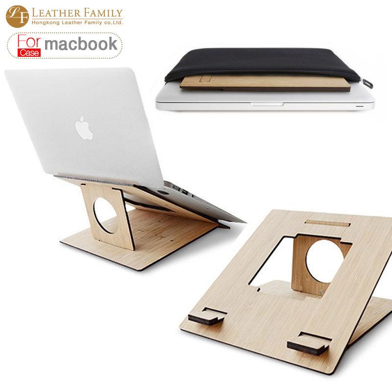 2016 nouveau en bois Portable Vertical Tablet PC stand pour MacBook air et pro 11.6 13.3
