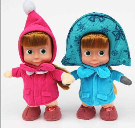 teddy 2015 latest bear masha and bear speak Russian will walk singing Martha recording plush toys for children(China (Mainland))