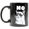Free Shipping 1Piece Grumpy Cat Mug Grumpy cat no Mug Funny Office Coffee Mug Kitty Lady