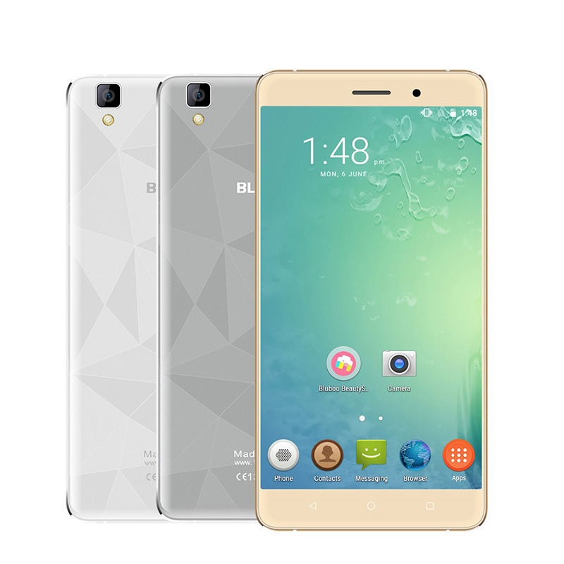 New Bluboo Maya 5.5'' 1280x720 Mobile Phone Android 6.0 MT6580A 1.3GHz Quad Core 13.0MP 2GB+16GB 3G WCDMA Metal Body Smartphone(China (Mainland))