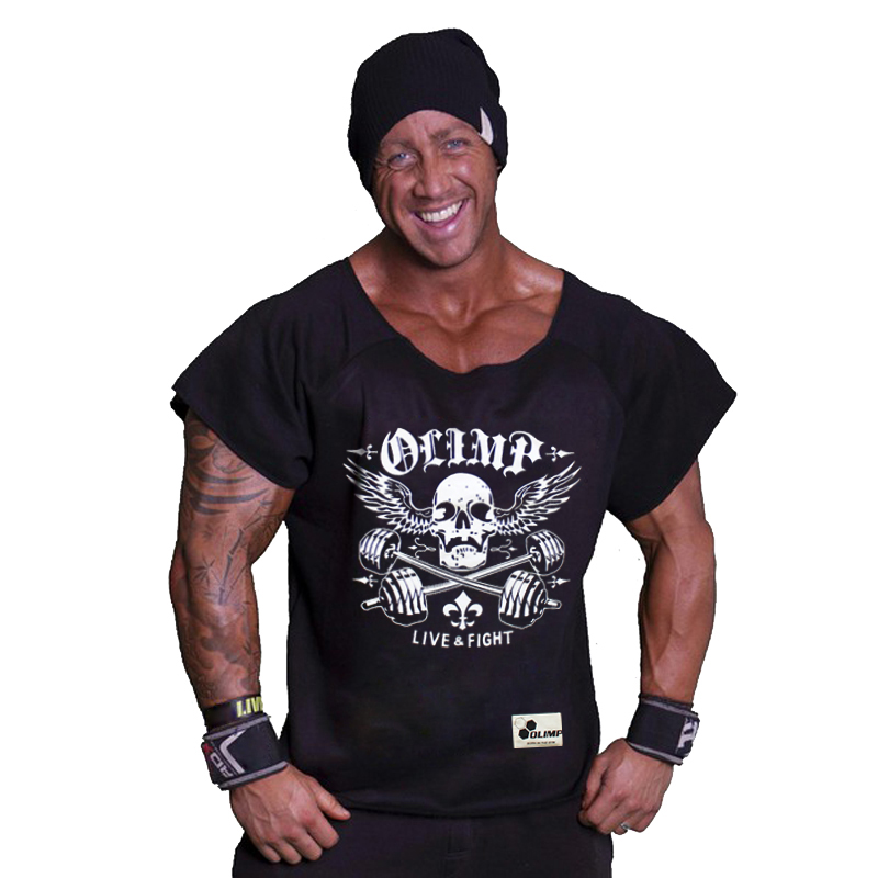 New Gym Muscle Bodybuilding Black Leather Fitness Lifting: Fashion Camisa Masculina New Bodybuilding Brand Black