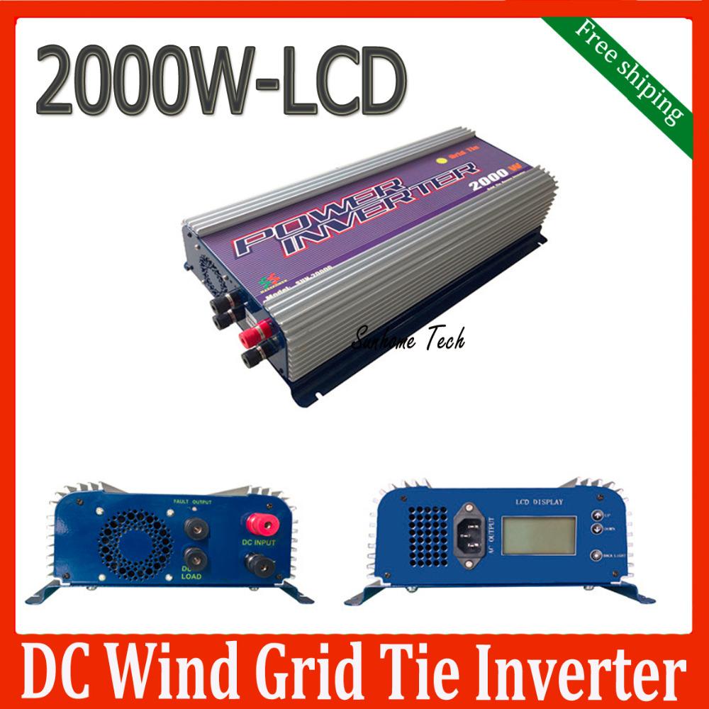 2000W wind power grid tie inverter,45-90V DC input,230V AC output MPPT pure sine wave wind turbine grid tie inverters(China (Mainland))