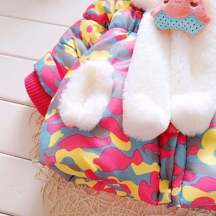 Bebek kız giyim 2016 Kış kalınlaşma artı kaşmir coat bebek Kızlar Kore versiyonu kış ceket Giyim aşağı ceket
