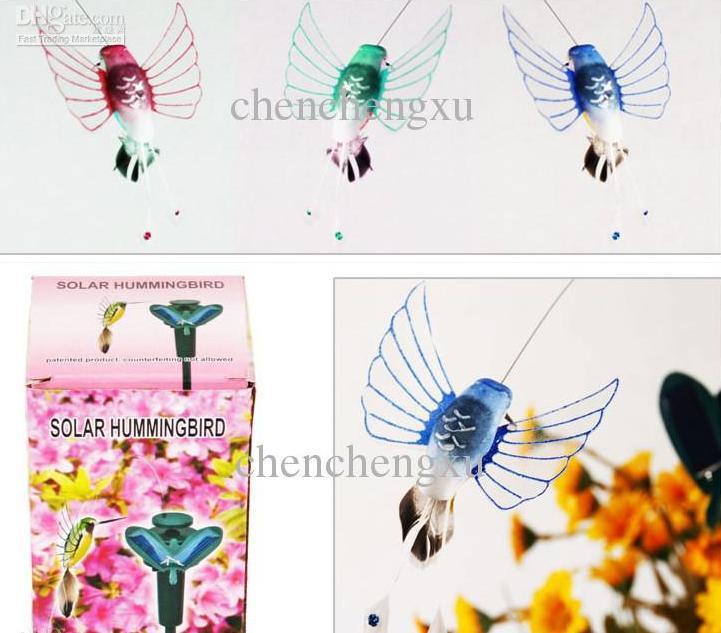 Solar humming bird hummingbird butterflies garden toys students educational solar and battery combo Energy GIFT Solar