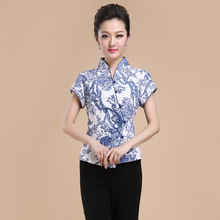 Summer New Chinese Style Women Linen Tang Suit Tops Blouse Vintage Traditional Chinese Shirt M L XL XXL XXXL 4XL T08