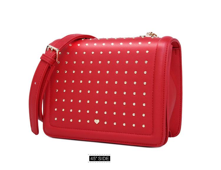 Japan Style Small Bag Famous Brand Designer Ladies Casual Shoulder Bag Small Rivet-studded Flap Bag Women PU Leather Crossbody