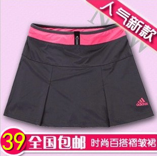 2015 sports pants skirt female pleated short skirt women's half-length tennis ball culottes badminton skirt shorts thin(China (Mainland))