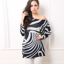 2015 New Arrivals Women Winter Clothing Plus Size Sweater Dress Long Sleeve O neck Women's Oversized Knitted Sweaters Pullovers(China (Mainland))