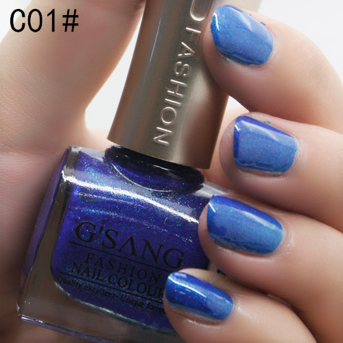 factory hot sale G'SANG china brand 180 diamond glitter glaze color nail lacquer polish shiny luxury nail polish color varnish(China (Mainland))