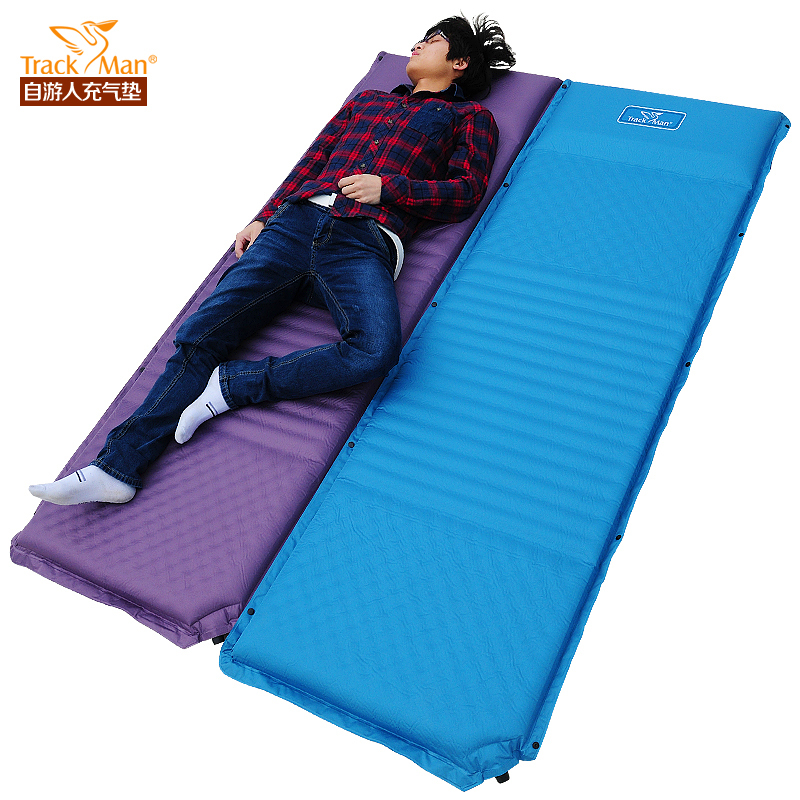trackman outdoor inflatable cushion widened thickened automatic inflatable mats 7.5cm necessary camping furniture<br><br>Aliexpress