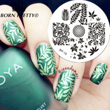 BORN PRETTY Leaves Theme Nail Art Stamp Template Image Plate BP19(China (Mainland))