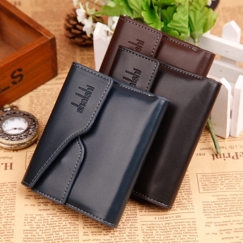 Гаджет  New High Grade PU Leather Fashion Men Wallets Short Mini Business Wallet Card Package Bag Money Man Purses Coin Holder Bags None Камера и Сумки