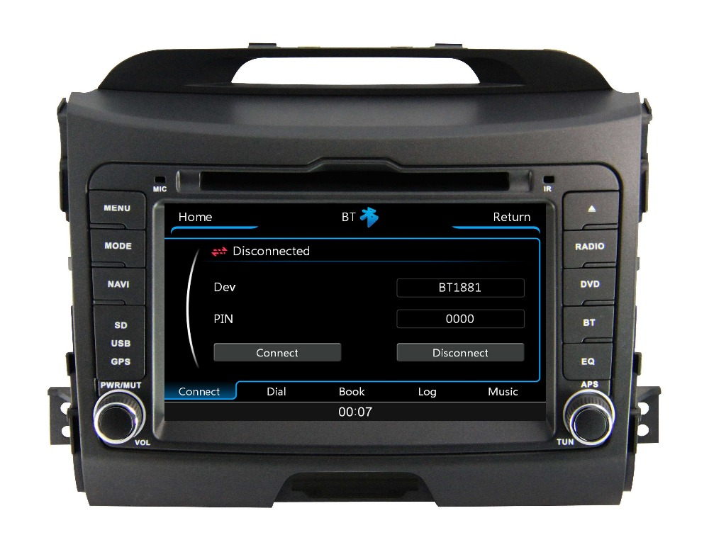 Free shipping car dvd for Kia Sportage 2014 with SWC GPS + radio receive + RDS BT+ SD + USB CD/DVD Aux-in(China (Mainland))