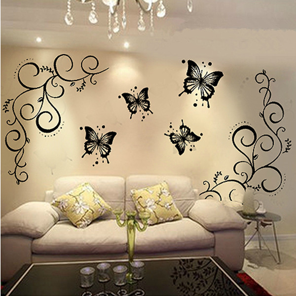 Diy Home Decoration Wall Decals : Aliexpress buy butterfly home decor wall stickers