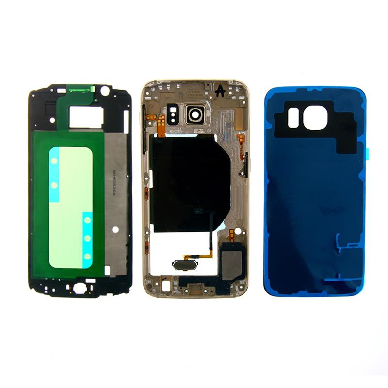 Здесь можно купить  Golden Full Housing Case Back Battery Cover Middle Frame For Samsung Galaxy S6 G920F Free Shipping  Телефоны и Телекоммуникации