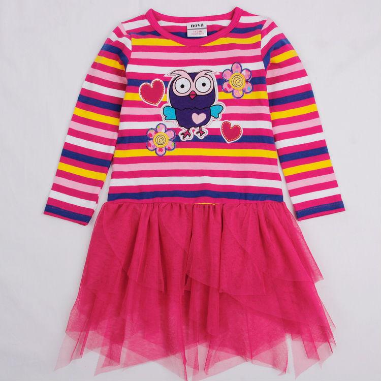 baby girl dress long sleeve striped baby girl tutu Dress for Girls princess party dress Nova kids girl clothes children clothing<br><br>Aliexpress
