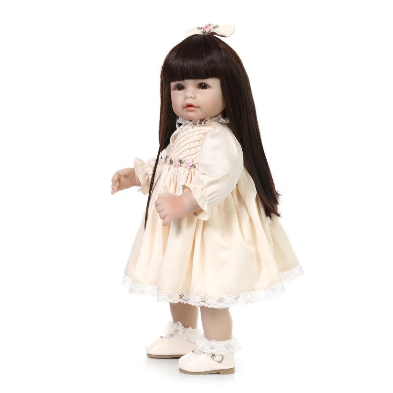 Simulation vinyl toddler doll for girl lifelike princess doll model photography props furnishings play house toy birthday gift(China (Mainland))
