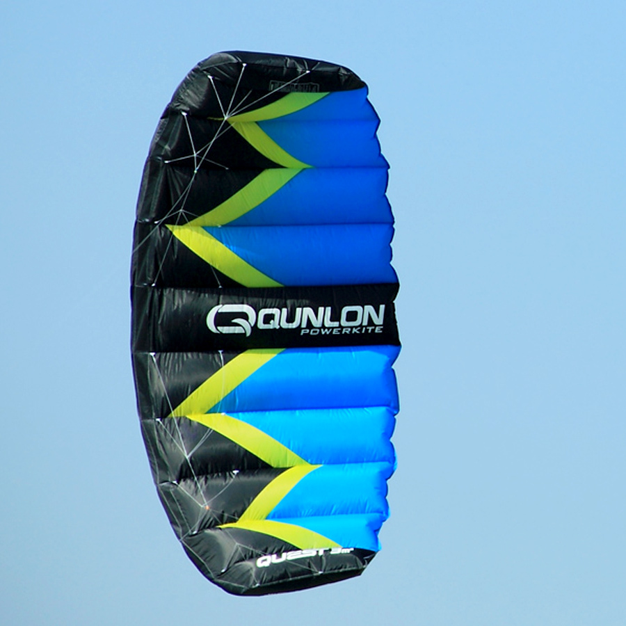 Free Shipping Dual Line / Double line Stunt Parafoil Sport Kite / Power Kites with Bag Surfing Kite 2 Sqm(China (Mainland))