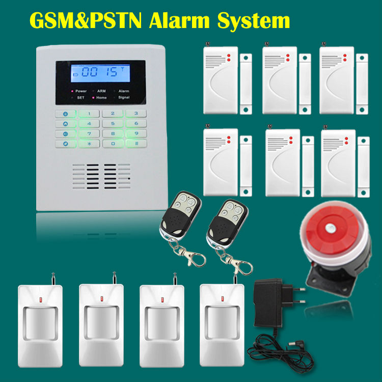 LCD screen PSTN+ GSM alarm system home security GSM alarm system Quad-band GSM alarm panel(China (Mainland))