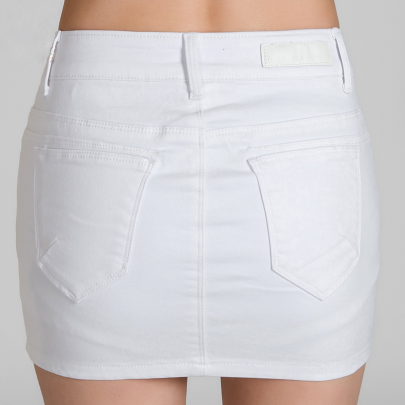 Womens White Denim Skirt