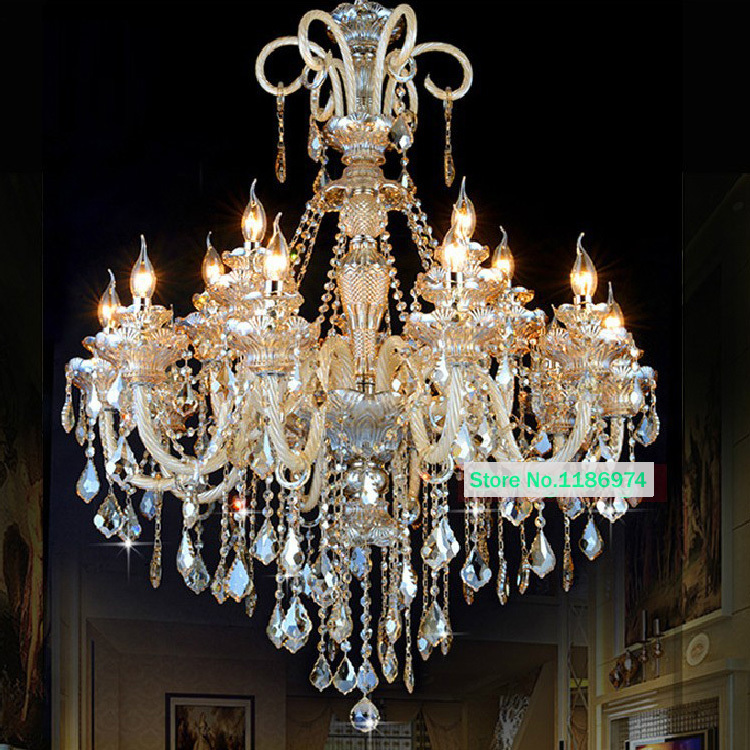 Led lamps modern crystal chandelier lighting furniture big candelabra chandeliers hanging lighting Wrought Iron Candle Lighting(China (Mainland))