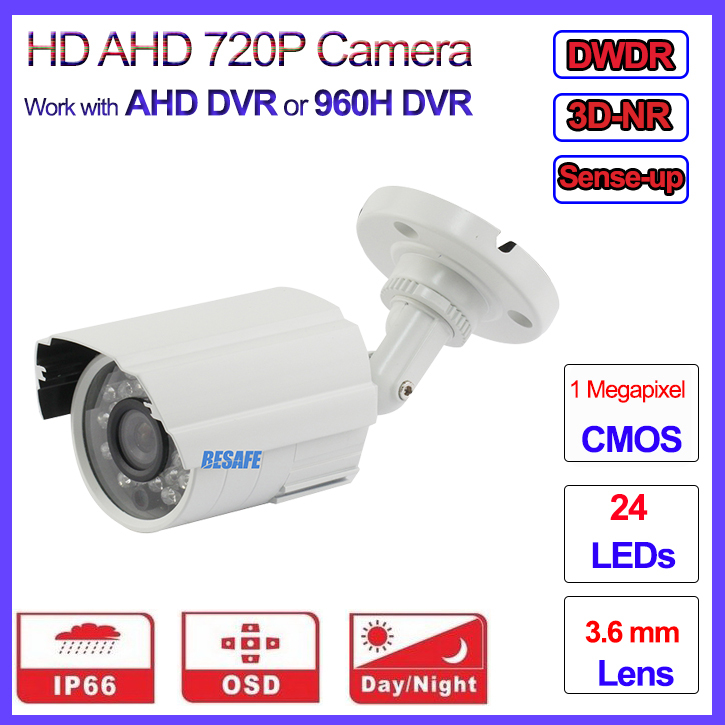 1.0MP AHD M L mini cctv camera 720P security outdoor 960H IR Night Vision bullet, HD Lens, OSD, IR-CUT DWDR 3DNR, bracket