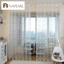 European style rustic sheer rideau jacquard modern tulle curtain drape for kitchen(China (Mainland))