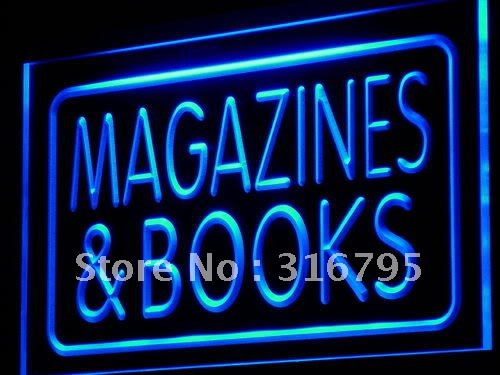 i832-b Magazines & Books Shop Display LED Neon Light Sign Wholeselling Dropshipper(China (Mainland))