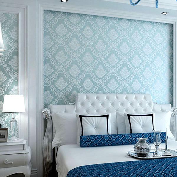 2014 Papel de parede verde nao tecido classico europeu  ~ Wallpaper De Quarto