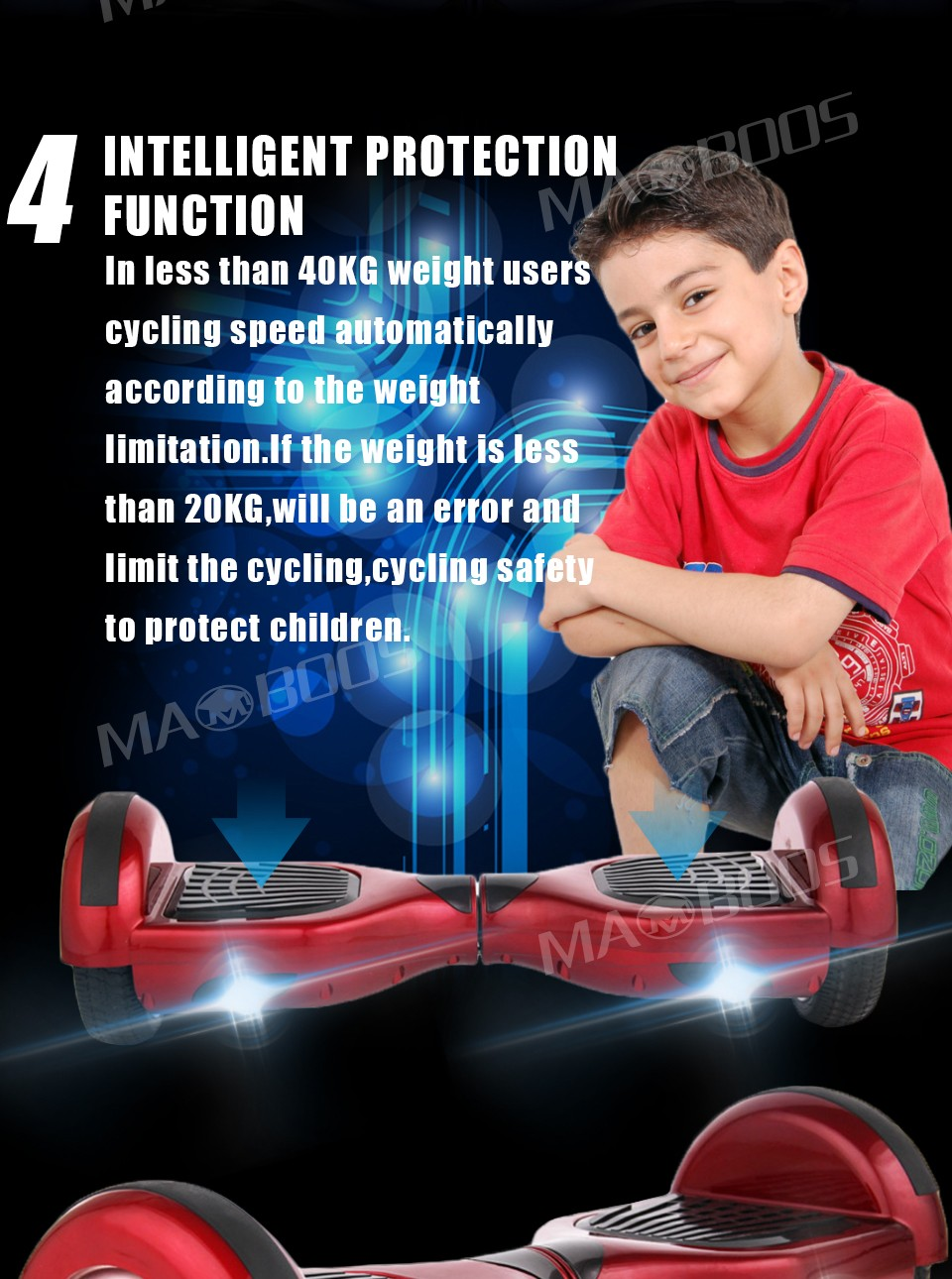MAOBOOS Hoverboard Scooter Skateboard Self balance electric Hoverboard Adult Kid UL 2272  Hoverboard No tax Germany stock