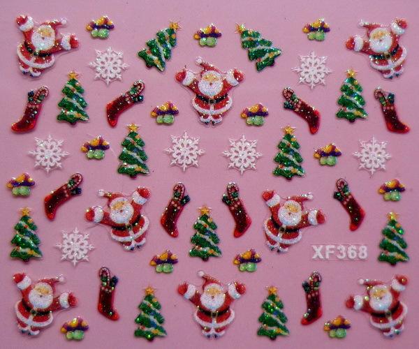 new design Christmas nail art stickers, 20 designs(China (Mainland))