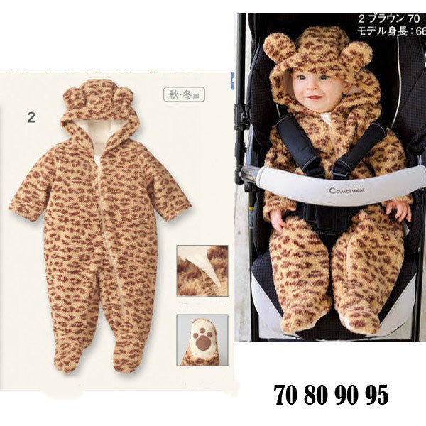 Winter 2014 baby boy rompers baby climbing clothes long sleeve leopard hooded romper kids baby jumpsuit infant clothing 4pcs/lot<br><br>Aliexpress