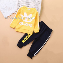 Brand Children boys girls clothing sports suit sets kids baby boys girls clothing sets children's 2pcscoat+pants