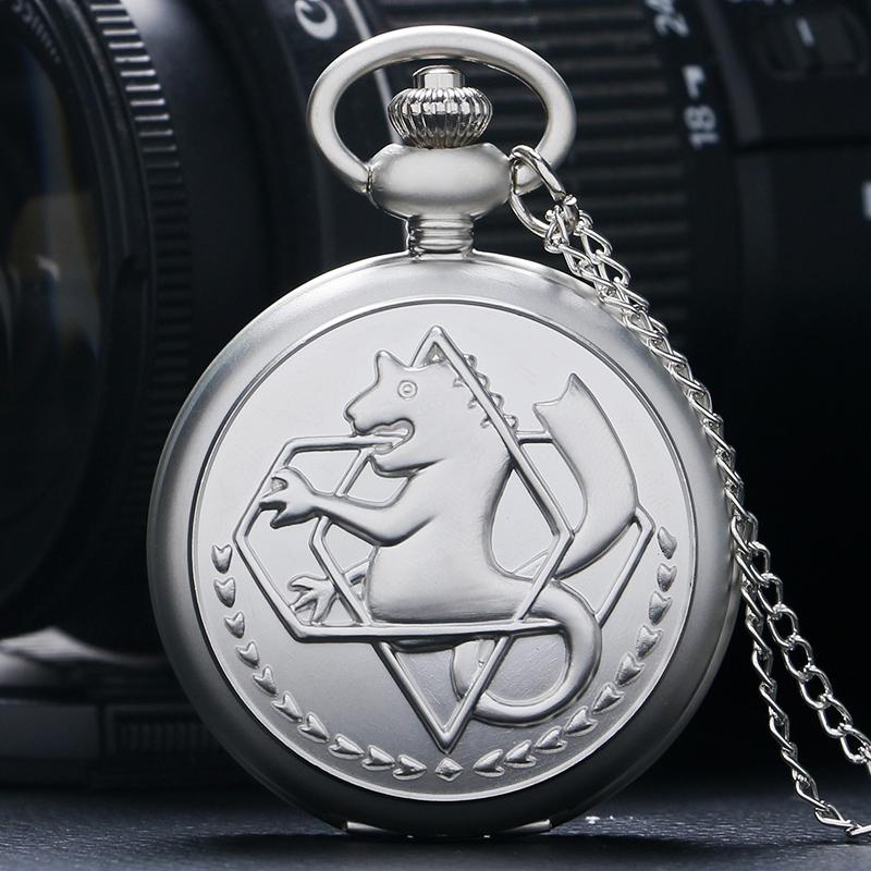 High Quality Full Metal Alchemist Dull Polish Pocket Watch Men's Quartz Watch P936(China (Mainland))
