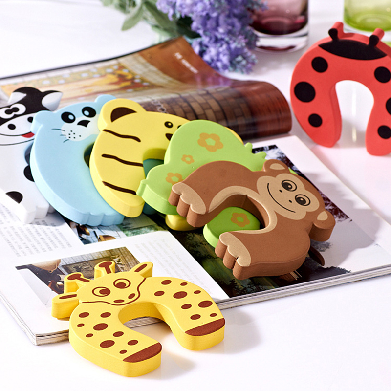 New Child Finger Corner Guard Baby Infant Safety Protector Stopper Kids Cute Cartoon Animals Door Jammer Hign Quality BFH02(China (Mainland))