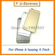 Free Shipping Metal Spare Parts Card Tray And Keys Multicolor Back Cover for iPhone 6 4.7″,6 Plus 5.5″ Full Housing 4.7 5.5 Inch