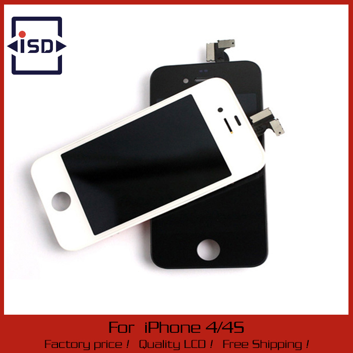 black and white LCD display digitizer assembly screen for Iphone 4 touch screen Digitizer Replacement Parts lcd for iphone 4s