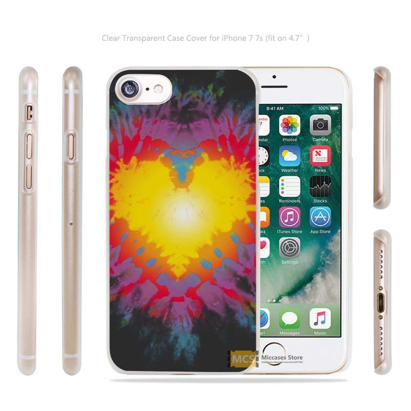 Tie Dye Heart Artwork Transparent Case Cover apple iphone 4 4s 5 5s SE 6 6s 7 7s plus i4 i5 i6 i7  -  Mohoo Store Store store