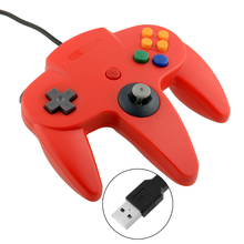 Hot USB Controller Joypad Joystick Gamepad Gaming For Nintendo for Gamecube N64 64 Style PC Mac Red