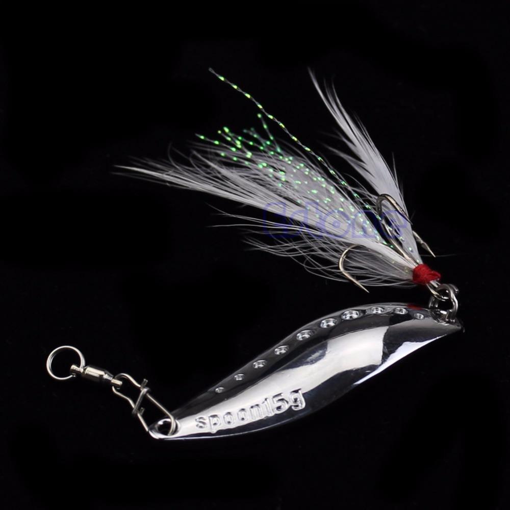 Гаджет  U119 Free Shipping 55mm 15g Leech Spoon Paillette Fishing Lure Stosh Crank Bait Treble Hook New None Спорт и развлечения