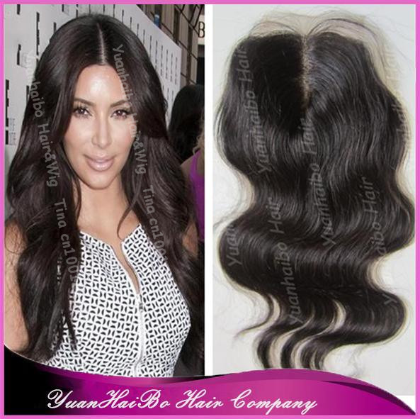 Best Grade! #1b body wave virgin brazilian hair middle parting lace front closure 3.5*4 free shipping<br><br>Aliexpress