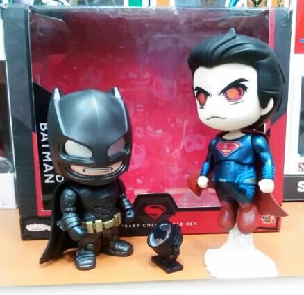 NEW hot 19cm 2pcs/set Justice league Super hero Batman v Superman Dawn of Justice collectors action figure toys Christmas doll